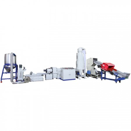Two Stage Side Feeding & Die Face Cutting Plastic Recycling Machine