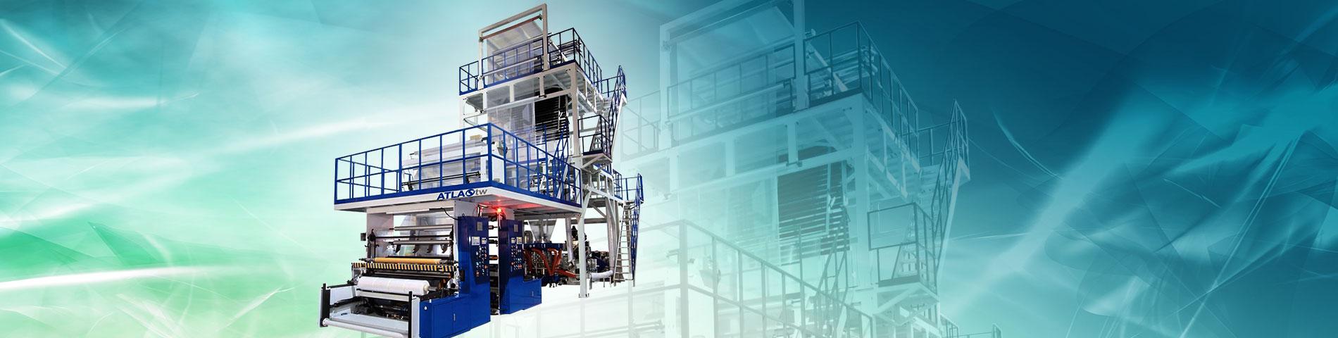 오실레이팅 타워 3층 블로운 필름 기계