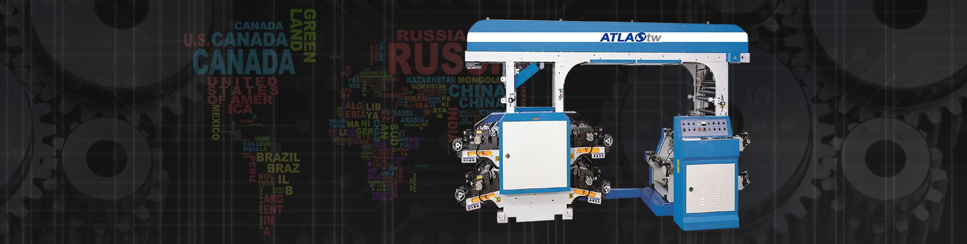 4 Warna Flexographic Mesin cetak