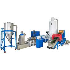 Máquina de composición de plástico de alimentación lateral