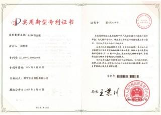 Utility Model Patent-LEDLight guide plate(China) 2004 2 0000650.8