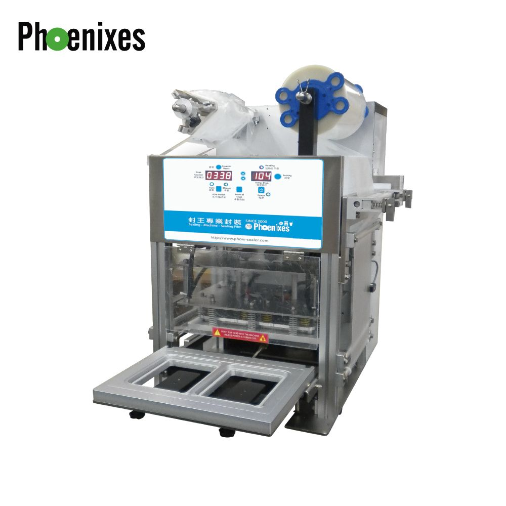 Máquina seladora automática de bandejas (Compressor de ar) - Máquina seladora e seladora de bandejas com compressor de ar