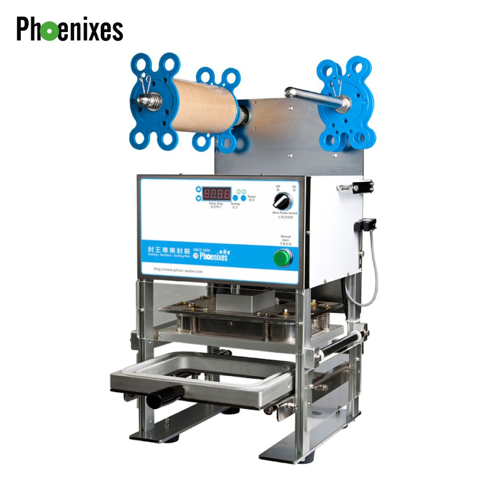 Manual tray sealing machine - Manual Tray Sealer For Food Trays