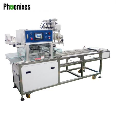 Continuous production line sealing machine