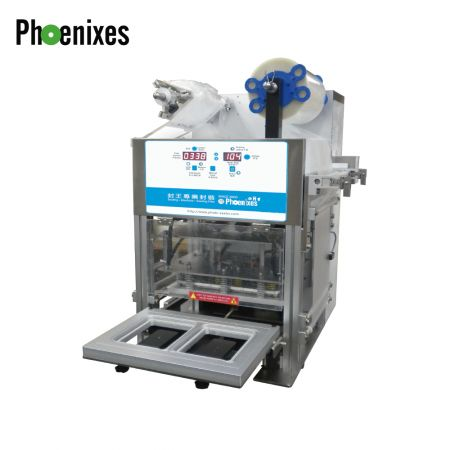 Automatic tray sealing machine (Air-compressor) - Air-compressor Tray Sealer-Sealing Machine