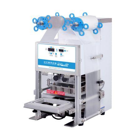 Machine à cacheter automatique pour plateaux et bols - Scellant automatique de bacs Phoenixes