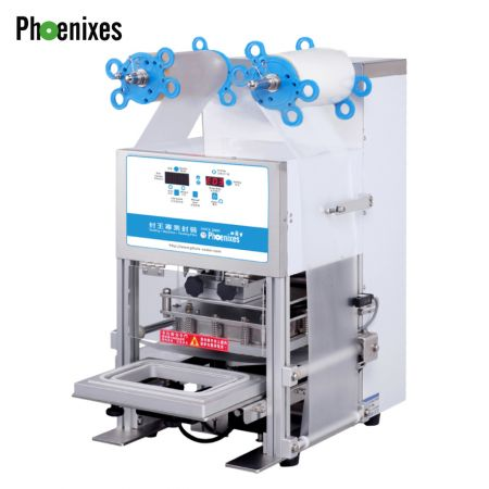 Automatic tray sealing machine - Phoenixes Automatic Tray Sealer