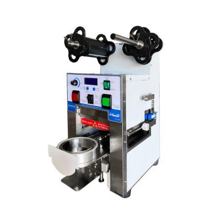 Máy dán cốc hiệu suất cao - máy (dán/ niêm phong)miệng cốc tự động
