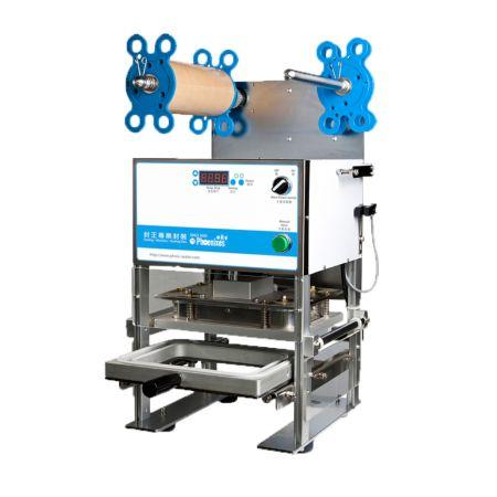Máquina de sellado de bandejas manual - Sellador de bandejas manual para bandejas de alimentos