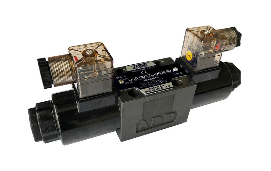 DSD-G02 Sterowany elektromagnetycznie kierunkowy zawór sterujący, złącze typu DIN.