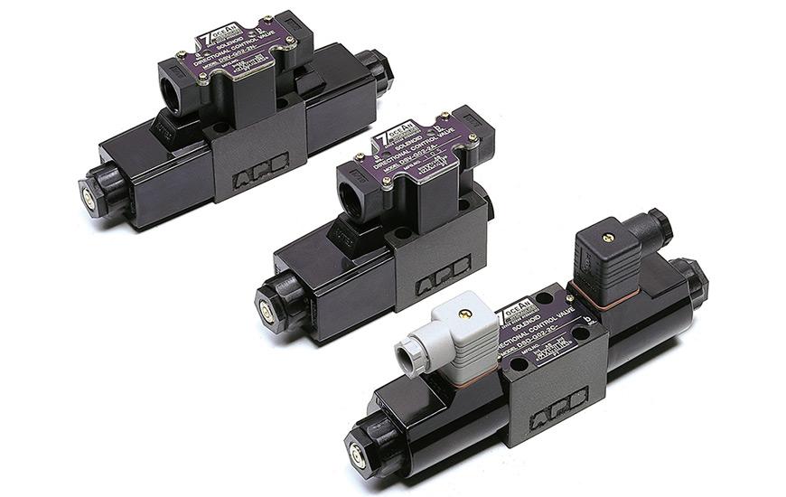 Válvulas de control direccional operadas por solenoide.