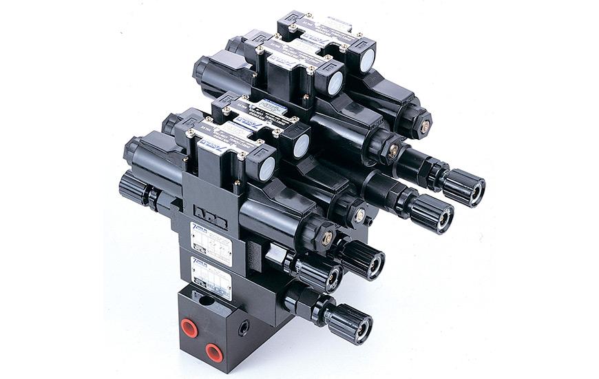 Conjunto de válvulas de pila modulares NG6.