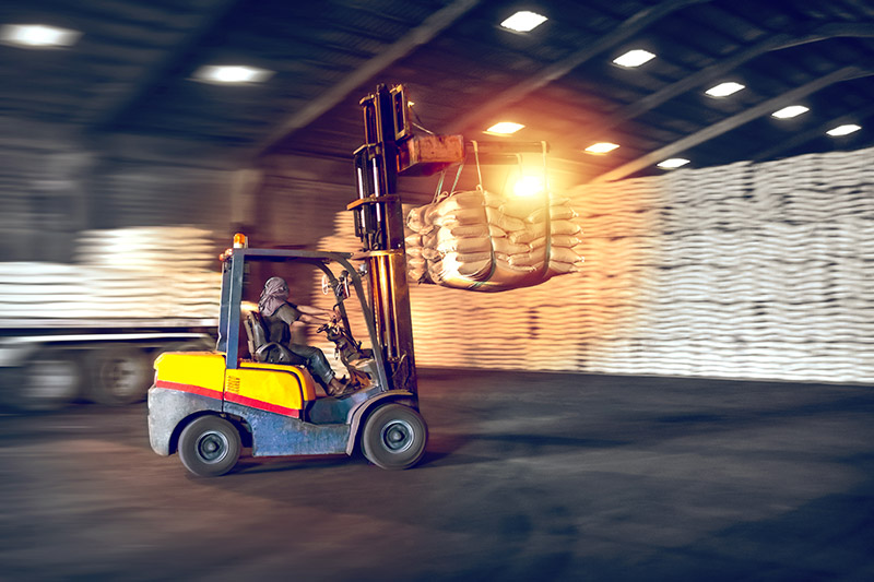 Hydraulics in Forklift.