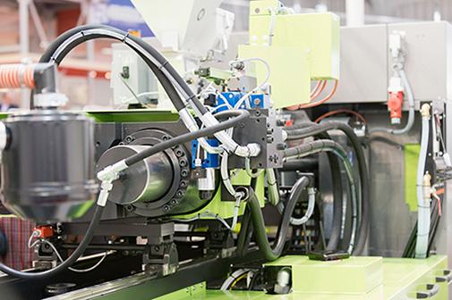 塑胶射出机油压应用。