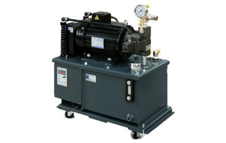 Zasilacz hydrauliczny z falownikiem - Agregat hydrauliczny z falownikiem.