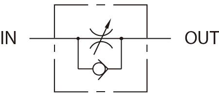 Graphic Symbol - Flow Control Valve.