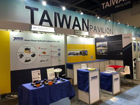 Seven Ocean Hydraulics booth at IFPE 2020