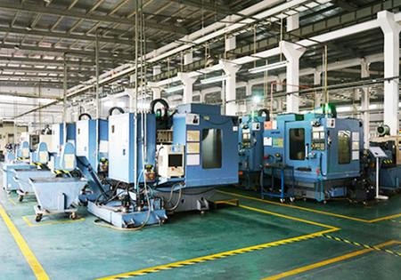 Linia produkcyjna maszyn CNC Seven Ocean Hydraulics.