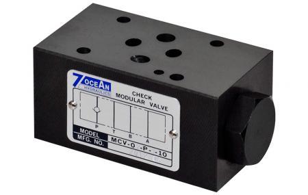 Modułowy zawór zwrotny - NG6 / Cetop-3 / D03 Modułowy zawór nadmiarowy ciśnienia w stosie.