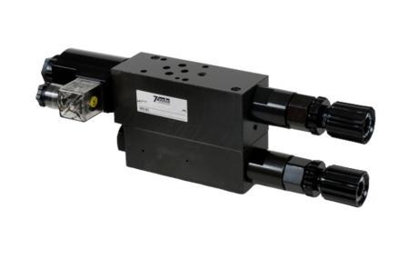 Modulární dvoustupňový redukční ventil tlaku - NG6 / Cetop-3 / D03 Modulární zásobník 2stupňový redukční ventil tlaku.