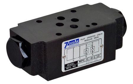 Modulární zpětný ventil ovládaný pilotem - NG6 / Cetop-3 / D03 modulární zpětný ventil ovládaný pilotním zásobníkem.
