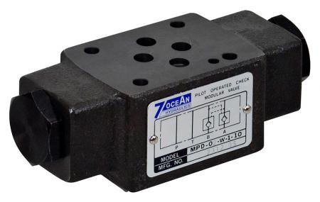 Válvula de retención accionada por piloto de tipo de descompresión modular - NG6 / Cetop-3 / D03 Tipo de descompresión de válvula de retención accionada por piloto de pila modular.