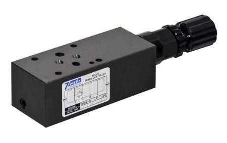 Modułowy zawór bezpieczeństwa - NG6 / Cetop-3 / D03 Modułowy zawór nadmiarowy ciśnienia w stosie.