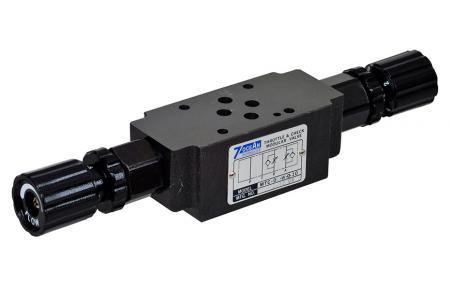 Modulární zpětný ventil škrticí klapky - Modulární zpětný ventil škrticí klapky NG6 / Cetop-3 / D03.