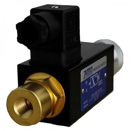 PS - boční tlakový spínač.