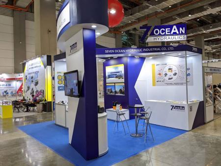 Estande da Seven Ocean Hydraulics na TFPE 2020, TaiNEX 2.