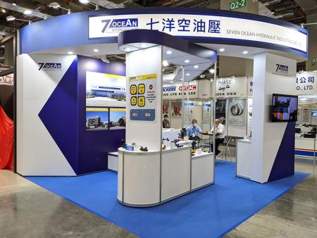 Seven Ocean Hydraulics booth at TFPE 2020, TaiNEX 2.