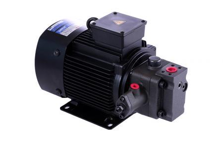 Mokrá motorová čerpací jednotka - Motor s lopatkovým čerpadlem s proměnným výtlakem.