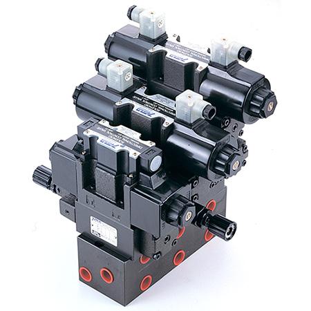 Modulární sestava stohovacích ventilů