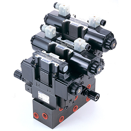 Conjunto de válvulas de apilamiento modular