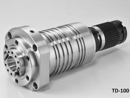 Broche à entraînement direct pour centre de taraudage T3-FTS avec boîtier de diamètre 100.