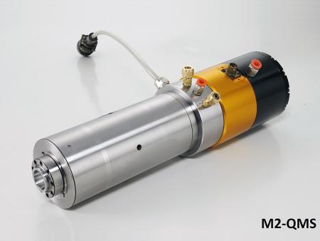 Broche haute vitesse à moteur intégré avec boîtier diamètre 80 - Broche haute vitesse à moteur intégré #ER20 avec boîtier de diamètre 80.