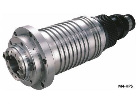 La broche entraînée par poulie avec boîtier diamètre 140 - Broche entraînée par poulie avec diamètre de boîtier 140. Max. vitesse: 10 000 ~ 15 000 tr/min