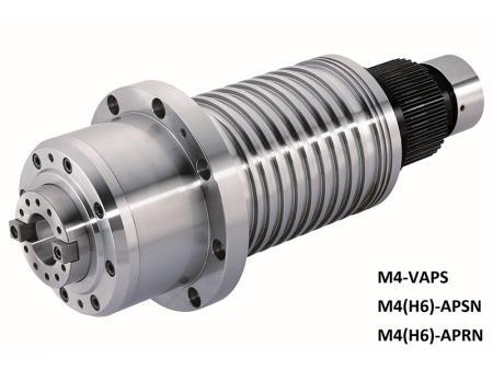La broche entraînée par poulie avec boîtier diamètre 150 - Broche entraînée par poulie avec boîtier diamètre 150. Max. vitesse: 10 000 ~ 15 000 tr/min