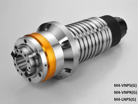 La broche entraînée par poulie avec boîtier diamètre 120 - Broche entraînée par poulie avec diamètre de boîtier 120. Max. vitesse: 10 000 ~ 15 000 tr/min