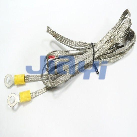 Сборка заземляющего провода с луженой медной оплеткой - Сборка заземляющего провода с луженой медной оплеткой