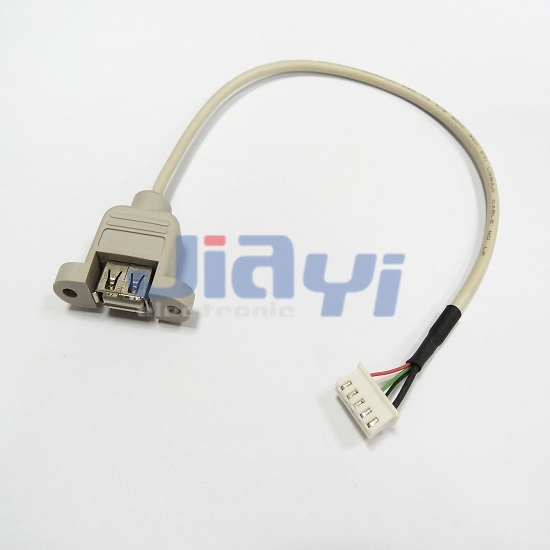 Panel Mount USB Cable Assembly - Panel Mount USB Cable Assembly