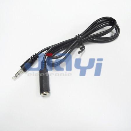 Conjunto de cabo de áudio estéreo fêmea - Conjunto de cabo de áudio estéreo fêmea