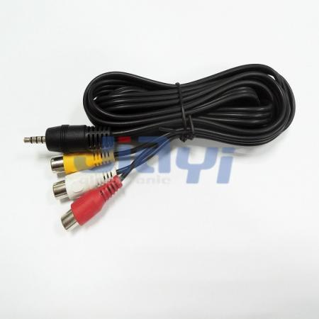 Conjunto de cabo de tomada RCA - Conjunto de cabo de tomada RCA