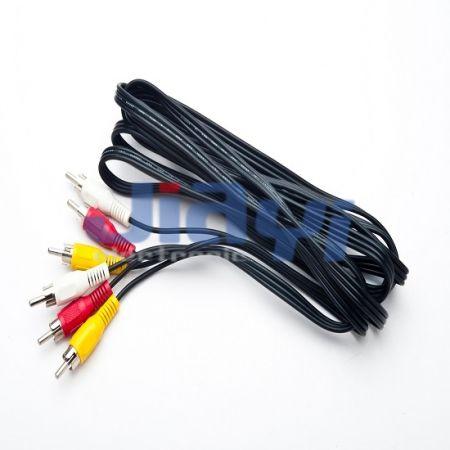 Conjunto de cabo de plugue RCA - Conjunto de cabo de plugue RCA