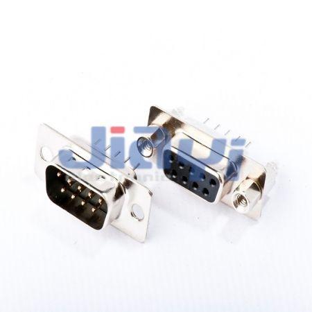 Conector D-SUB Tipo Reto (Pino Estampado) - Conector D-SUB Tipo Reto (Pino Estampado)