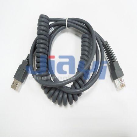 Conjunto de cable en espiral en espiral - Conjunto de cable en espiral en espiral