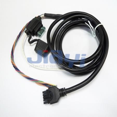 Arnés de cableado de caja de fusibles sobremoldeado para automóvil