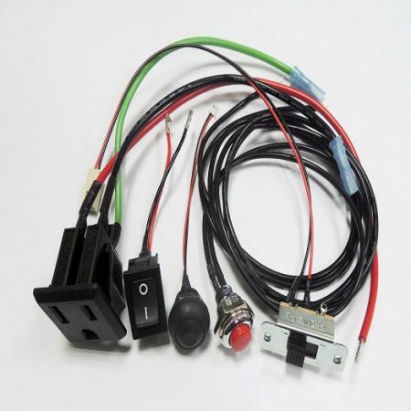 Tomada de energia e chicote de fios do interruptor - Alimentação, chicote de fios de soquete IEC