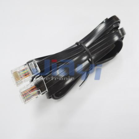 Плоский модульный штекерный кабель RJ45