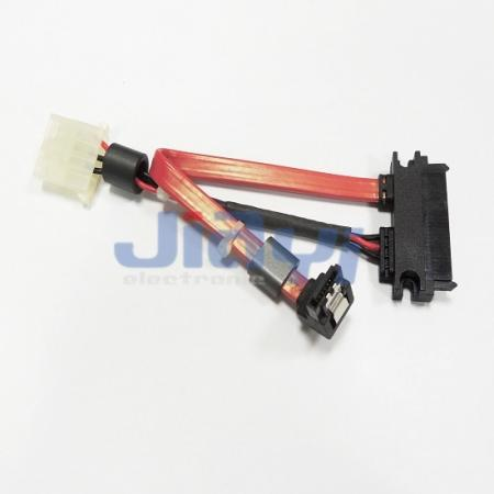 SATA 22P zu SATA 7P & Stromkabel - SATA 22P zu SATA 7P & Stromkabel